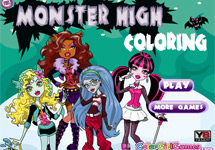 Juego de Colorear Monster High